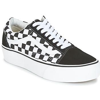 Cipők Női Rövid szárú edzőcipők Vans UA OLD SKOOL PLATFORM Fekete  / Fehér