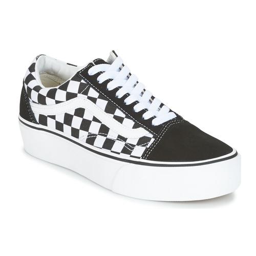 Cipők Női Rövid szárú edzőcipők Vans UA OLD SKOOL PLATFORM Fekete   Fehér f8981eb760
