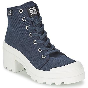 Cipők Női Magas szárú edzőcipők No Box GALIA Tengerész