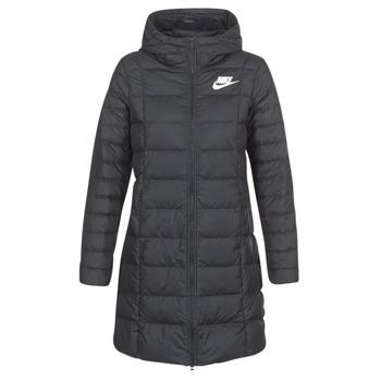 Ruhák Női Steppelt kabátok Nike DOWN FILL PARKA Fekete  / Fehér