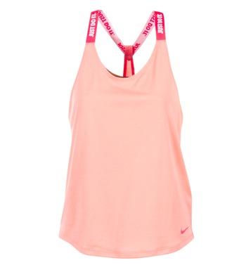 Ruhák Női Trikók / Ujjatlan pólók Nike NIKE DRY TANK ELASTIKA Rózsaszín / Piros
