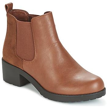 Cipők Női Bokacsizmák Moony Mood GLOVILA Teve