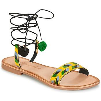 Cipők Női Szandálok / Saruk Lola Espeleta EDWINA Zöld / Citromsárga / Fekete