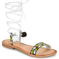 Cipők Női Szandálok / Saruk Lola Espeleta EDWINA Zöld / Ezüst