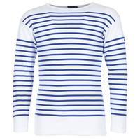 Ruhák Férfi Hosszú ujjú pólók Armor Lux DISJON Fehér / Kék