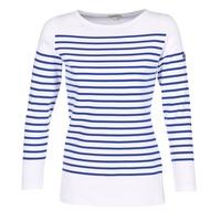 material Női Hosszú ujjú pólók Armor Lux ROADY Fehér / Kék