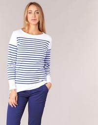 Ruhák Női Hosszú ujjú pólók Armor Lux ROADY Fehér / Kék