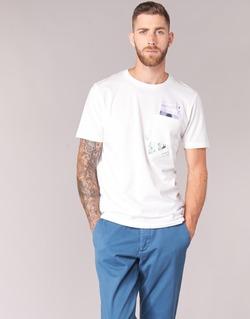 Ruhák Férfi Rövid ujjú pólók Jack & Jones CHECK ORIGINALS Fehér