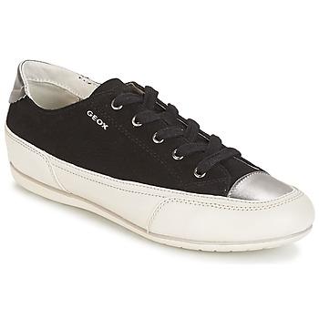 Cipők Női Rövid szárú edzőcipők Geox D N.MOENA D - SCAM.STA+VIT.CER Fekete