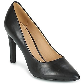 Cipők Női Félcipők Geox D CAROLINE C - NAPPA Fekete