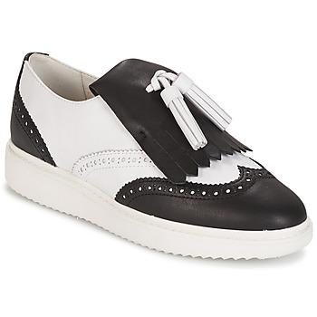 Cipők Női Mokkaszínek Geox D THYMAR C - NAPPA Fehér / Fekete