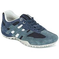 Cipők Női Rövid szárú edzőcipők Geox U SNAKE K - SCAM.+MESH Kék