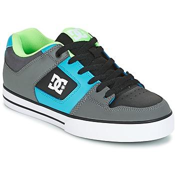 Cipők Férfi Deszkás cipők DC Shoes PURE Szürke / Zöld / Kék