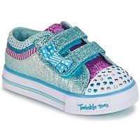 Shoes Lány Rövid szárú edzőcipők Skechers Shuffles Fehér / Kék