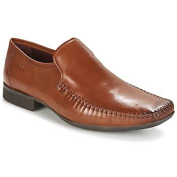 Cipők Férfi Mokkaszínek Clarks Ferro Step Cserszínű / Bőrszínű