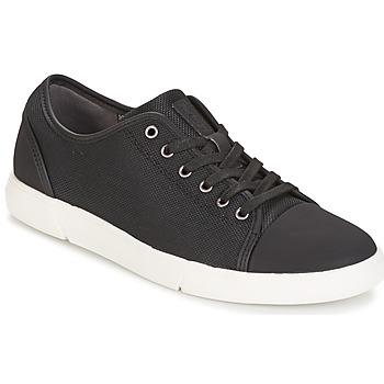 Cipők Férfi Rövid szárú edzőcipők Clarks Lander Cap Fekete