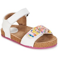 Cipők Lány Szandálok / Saruk Kickers NAISSA Fehér