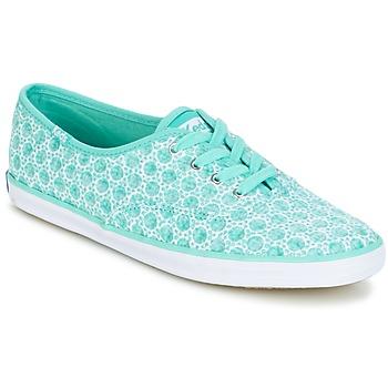 Cipők Női Rövid szárú edzőcipők Keds CH EYELET Aqua