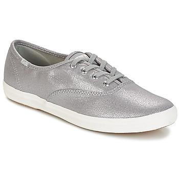 Cipők Női Rövid szárú edzőcipők Keds CH METALLIC CANVAS Ezüst