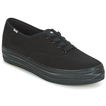 Cipők Női Rövid szárú edzőcipők Keds TRIPLE Fekete