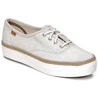 Cipők Női Rövid szárú edzőcipők Keds TRIPLE DALMATA DOT LEATHER Krém
