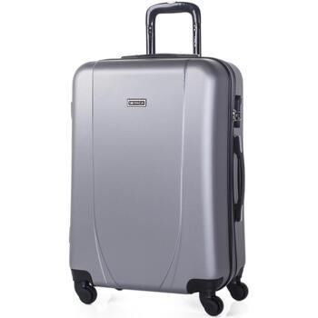 Táskák Keményfedeles bőröndök Itaca Tiberis Ezüst