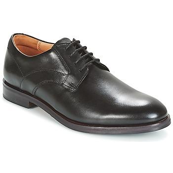 Cipők Férfi Oxford cipők Clarks Black Leather Fekete