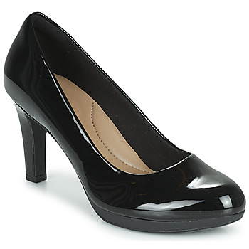 Cipők Női Félcipők Clarks ADRIEL VIOLA Fekete / Pat