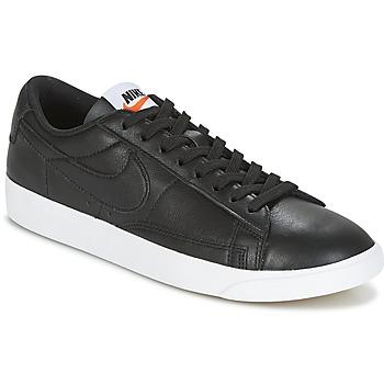 Cipők Női Rövid szárú edzőcipők Nike BLAZER LOW LEATHER W Fekete