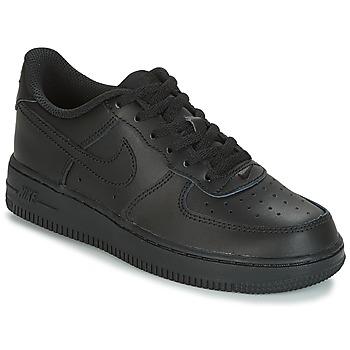 Cipők Gyerek Rövid szárú edzőcipők Nike AIR FORCE 1 CADET Fekete