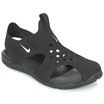 Cipők Gyerek strandpapucsok Nike SUNRAY PROTECT 2 CADET Fekete  / Fehér