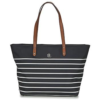 Táskák Női Bevásárló szatyrok / Bevásárló táskák Ralph Lauren BAINBRIDGE TOTE Fekete  / Fehér