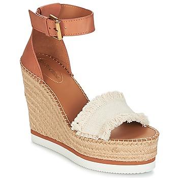 Cipők Női Gyékény talpú cipők See by Chloé SB28152 Konyak / Bézs