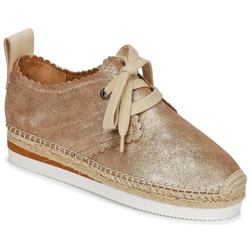 Cipők Női Gyékény talpú cipők See by Chloé SB30222 Arany