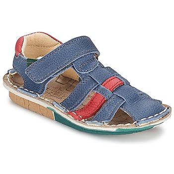 Shoes Fiú Szandálok / Saruk El Naturalista KIRI Kék / Piros