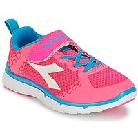 Cipők Lány Rövid szárú edzőcipők Diadora NJ-303-1 JR Rózsaszín