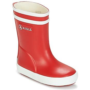 Cipők Gyerek Gumicsizmák Aigle BABY FLAC Piros / Fehér