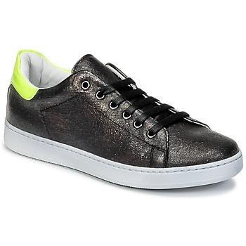 Cipők Gyerek Rövid szárú edzőcipők Young Elegant People EDENI Fekete  / Citromsárga / Fluoreszkáló