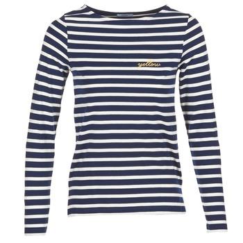 Ruhák Női Hosszú ujjú pólók Betty London FLIGEME Tengerész / Fehér