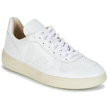 Cipők Rövid szárú edzőcipők Veja V-10 Fehér