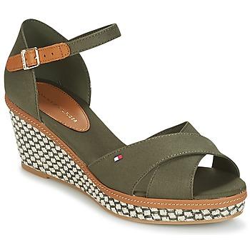 Cipők Női Szandálok / Saruk Tommy Hilfiger ICONIC ELBA SANDAL BASIC Zöld