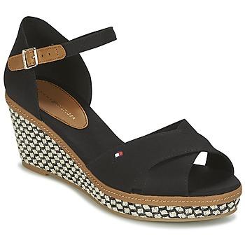 Cipők Női Szandálok / Saruk Tommy Hilfiger ICONIC ELBA SANDAL BASIC Fekete