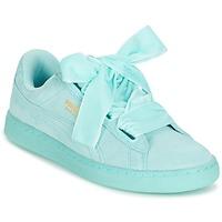 Cipők Női Rövid szárú edzőcipők Puma SUEDE HEART RESET WN'S Kék / Pasztell