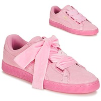 Cipők Női Rövid szárú edzőcipők Puma SUEDE HEART RESET WN'S Rózsaszín