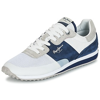 Cipők Férfi Rövid szárú edzőcipők Pepe jeans GARRET SAILOR Fehér / Kék
