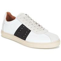 Cipők Férfi Rövid szárú edzőcipők Selected SHNDURAN NEW MIX SNEAKER Fehér / Tengerész