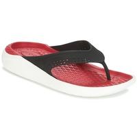 Cipők Lábujjközös papucsok Crocs LITERIDE FLIP Fekete  / Piros
