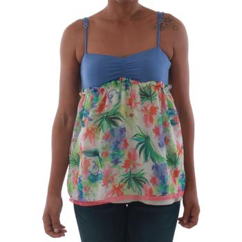 Ruhák Női Trikók / Ujjatlan pólók Fornarina VIOLAINE_MULTICOLOR Azul