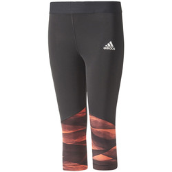 Ruhák Lány Legging-ek adidas Performance Training Wrapping 3/4 Tights Jr Fekete