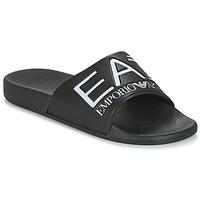Cipők Férfi strandpapucsok Emporio Armani EA7 SEA WORLD VISIBILITY M SLIPPER Fekete  / Fehér